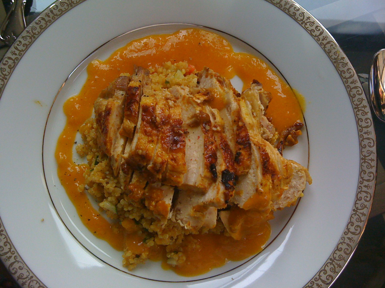 Apricot-Curry Chicken and Quinoa