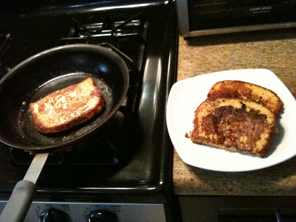 making French Toast @Cyrus'