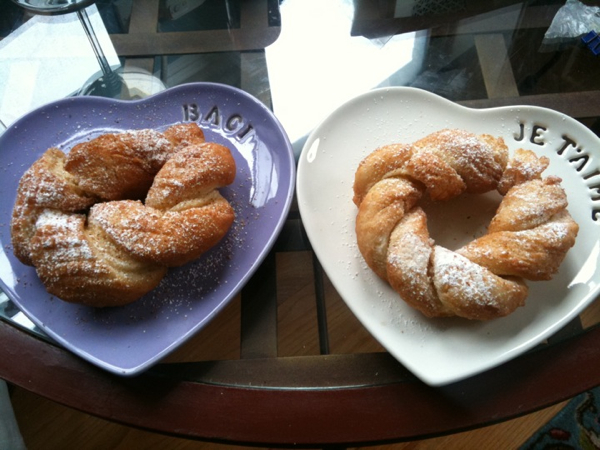 Freshly Made French Crullers