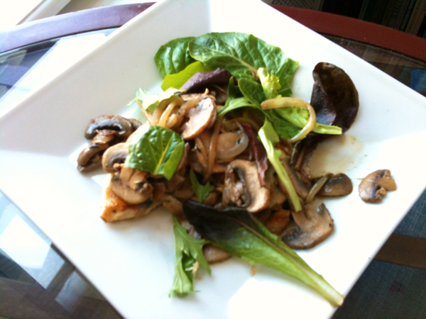 Grilled Chicken Breast with Porcini and Mushrooms