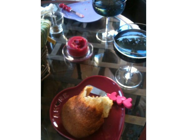 Popover and raspberry butter