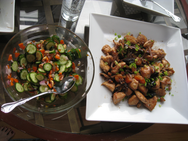 Spanish Chicken with Dried Fruit with Thai Cucumber Salad
