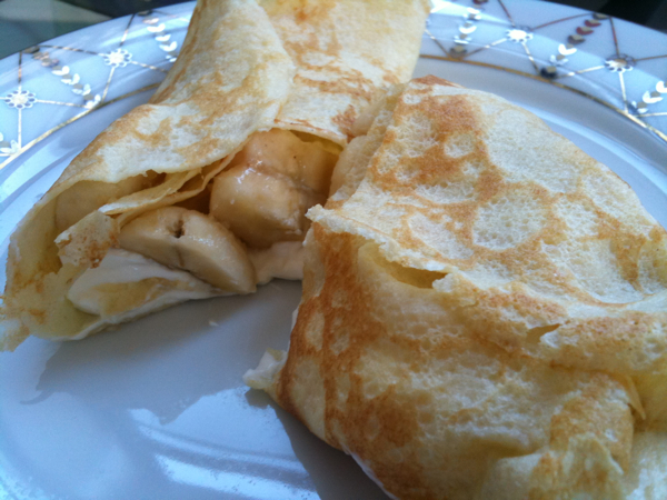 banana cream cheese crepe
