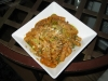 whole wheat rigatoni and homemade tomato sauce