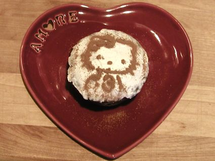 Hello Kitty Chocolate Banana Vegan Cupcake