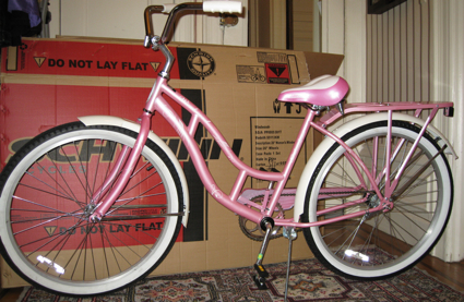 my very pink Schwinn bike