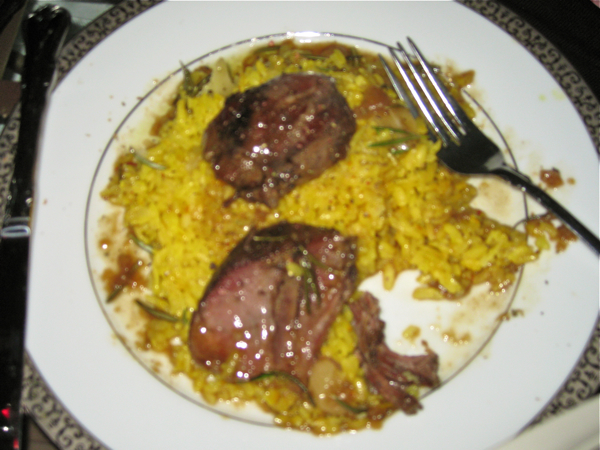 Braised Lamb Shank with Saffron Risotto