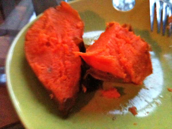 Grilled Organic Sweet potatoes