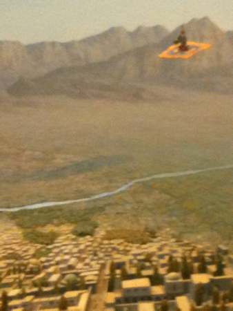 Persian flying carpet at Museum of Natural History ;-)