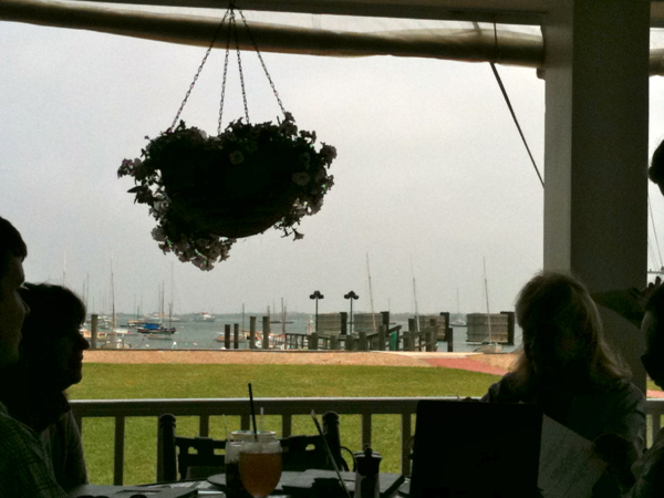 at the Yacht Club for lunch