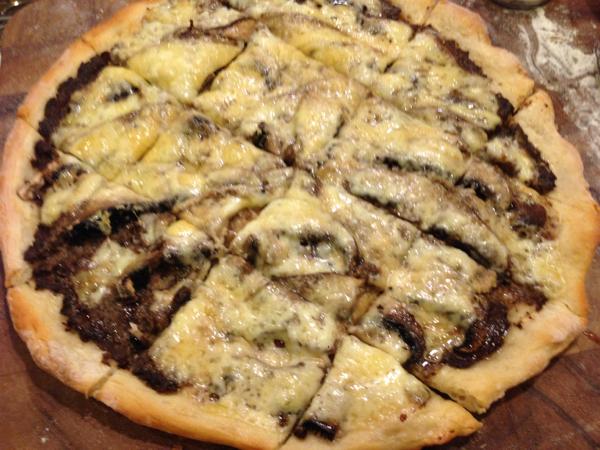Porcini Mushroom Pizza with Truffle Oil